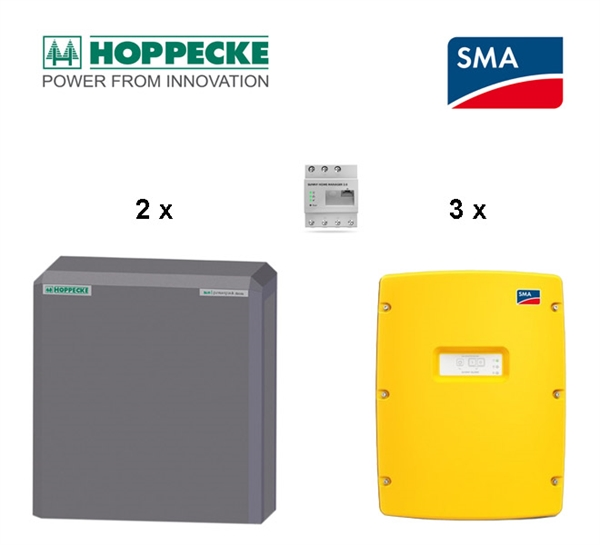 SMA SI 6.0 Hoppecke sun powerpack classic 22 kWh battery storage set, 3phase