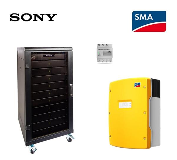 SMA Sony fORTELION Stromspeicher Set 4.8 kWh with SMA SI 6.0